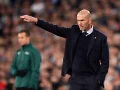 Real Madrid manager Zinedine Zidane is not giving up on retaining the LaLiga crown (Nick Potts/PA)