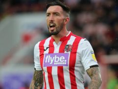 Ryan Bowman scored but was also sent off as Exeter drew at Newport (Mark Kerton/PA)