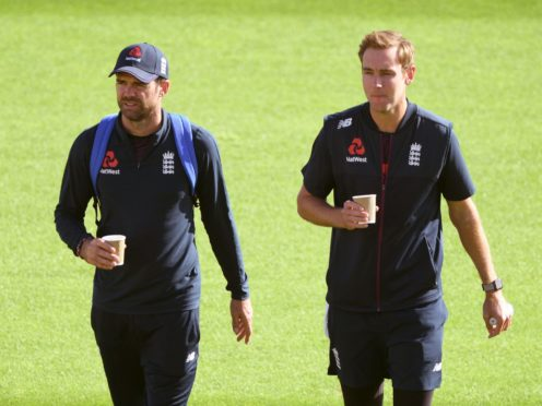 James Anderson (left) could make way for Stuart Broad in the second Test against India (Stu Forster/PA)