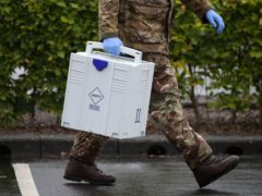 Soldiers have been helping out since the start of the pandemic (Andrew Milligan/PA)
