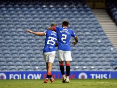 James Tavernier and Kemar Roofe will miss Rangers' game (Ian Rutherford/PA)