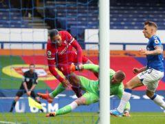 Everton goalkeeper Jordan Pickford's tackle ended Liverpool defender Virgil Van Dijk's season in October (Peter Byrne/PA)