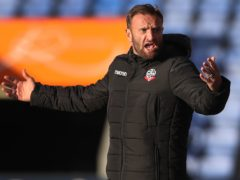 Ian Evatt wants more from his Bolton side now they are in the play-off picture (Nick Potts/PA)