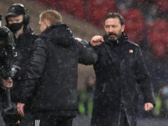 Derek McInnes, right, has praised Neil Lennon (Andrew Milligan/PA)