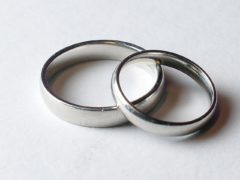 A pair of wedding rings (Anthony Devlin/PA)