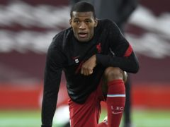 Liverpool midfielder Georginio Wijnaldum insists the players cannot feel sorry for themselves (Peter Powell/PA)