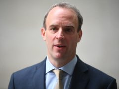 Foreign Secretary Dominic Raab has called footage of the ruler of Dubai's daughter, allegedly being held against her will, 'very distressing' (Victoria Jones/PA)