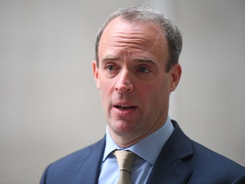 Foreign Secretary Dominic Raab has pushed for an investigation into human rights 'violations' in Xinjiang (Victoria Jones/PA)