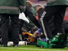 Raul Jimenez receives treatment after a clash of heads with Arsenal's David Luiz (not pictured) (John Walton/PA)