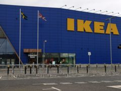 The doors to IKEA at Greenwich Peninsular, south London, remain closed due to coronavirus restrictions (Steve Paston/PA)