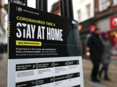 Non-essential high street businesses are currently closed to curb the spread of Covid-19 (Andrew Matthews/PA)