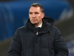 Brendan Rodgers says Leicester are calm about their prospects this season (Facundo Arrizabalaga/PA)