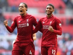 Virgil van Dijk, left, and Joe Gomez are working together to regain fitness (Adam Davy/PA)