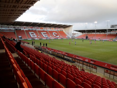 The match at Bloomfield Road has been postponed (Richard Sellers/PA)