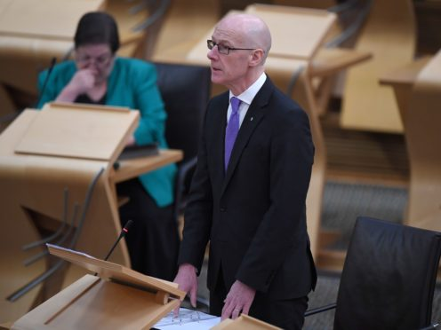Deputy First Minister John Swinney said the Scottish Government is 'concerned' about people's wellbeing due to lockdown (Andy Buchanan/PA)