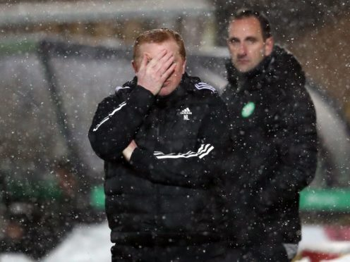 Neil Lennon endures more misery at Livingston (Andrew MIlligan/PA)