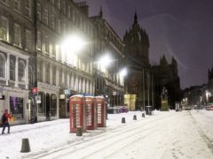 Most of Scotland has woken up to a blanket of snow (Jane Barlow/PA)