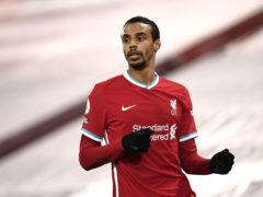 Liverpool defender Joel Matip has been ruled out for the rest of the season (Peter Powell/PA)