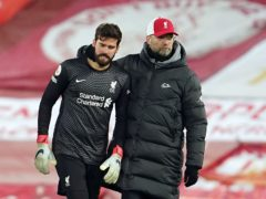 Sunday was a bad day for Liverpool goalkeeper Alisson and boss Jurgen Klopp (PA)