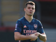 Granit Xhaka has been targeted for social media abuse from a number of Arsenal fans (Catherine Ivill/PA)