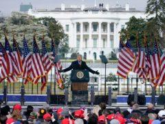 Donald Trump speaks at a rally in Washington (Jacquelyn Martin/AP)