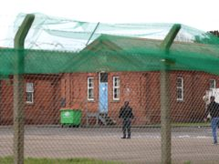 Napier Barracks in Folkestone, Kent, is being used by the Government to house people seeking asylum in the UK (Gareth Fuller/PA)