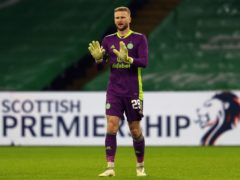 Scott Bain is looking to keep his place in Celtic's goal (Andrew Milligan/PA)