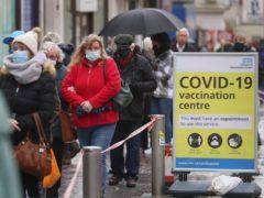 Health Secretary Matt Hancock said the Government is working with vaccine companies on tackling coronavirus variants (Gareth Fuller/PA)