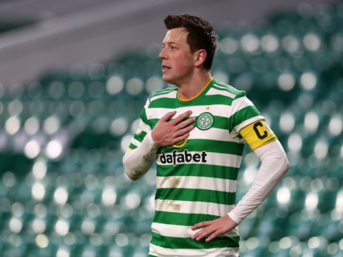 Callum McGregor, pictured, says Celtic players remain right behind Neil Lennon (Andrew Milligan/PA)