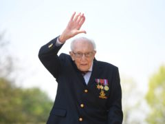 Sir Tom raised more than £32 million for the NHS (Joe Giddens/PA)