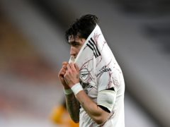 Hector Bellerin was left frustrated during Arsenal's defeat at Wolves.(Shaun Botterill/PA)