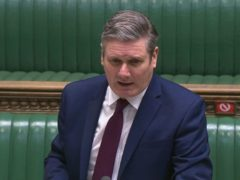 Labour leader Sir Keir Starmer speaks during Prime Minister's Questions in the House of Commons (House of Commons/PA)