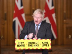 Prime Minister Boris Johnson during a media briefing in Downing Street (Stefan Rousseau/PA)