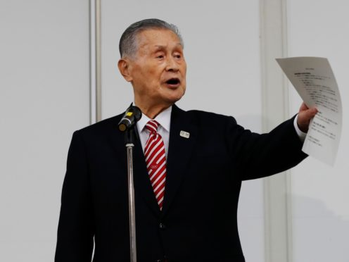 Tokyo Olympics chief Yoshiro Mori is under fire for comments he made about women (Kim Kyung-hoon/AP)