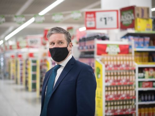 Labour leader Sir Keir Starmer said 'nothing' happened during his post-PMQs exchange with Boris Johnson, amid reports of a row (Stefan Rousseau/PA)