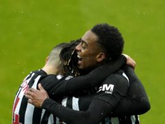 Newcastle's Joe Willock (right) celebrates his goal (Owen Humphreys/PA