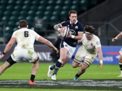 Stuart Hogg, centre, will not look beyond Saturday's match against Wales at Murrayfield (David Davies/PA)