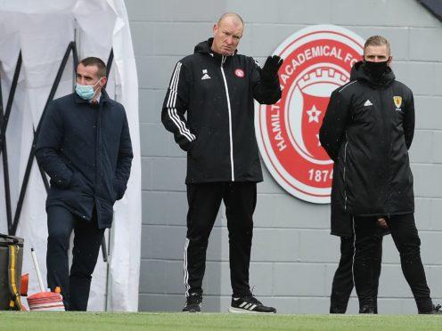 Football leaves Hamilton boss Brian Rice with varying emotions (Jane Barlow/PA)