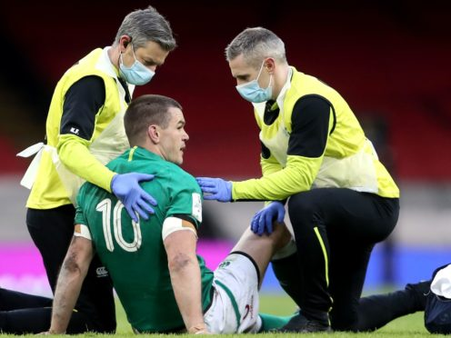 Ireland captain Johnny Sexton has been ruled of the clash with France after suffering a head injury against Wales (David Davies/PA)