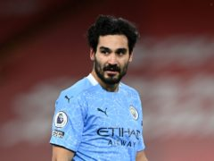 The in-form Ilkay Gundogan has been sidelined by a groin problem (Laurence Griffiths/PA)
