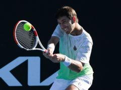 Cameron Norrie, pictured, sunk compatriot Dan Evans to advance at the Australian Open (Andy Brownbill/AP)