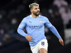 Sergio Aguero is pushing to return for Manchester City (Peter Powell/PA)