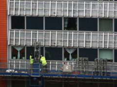 Contractors undertaking works at a residential property in Paddington, London (Jonathan Brady/PA)