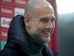 Pep Guardiola celebrated a landmark win on Wednesday (Nick Potts/PA)