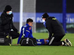Leicester's James Justin has suffered a serious knee injury (Mike Egerton/PA)