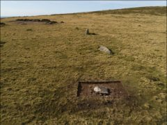 Archaeologists have uncovered the remains of an ancient stone circle in Wales which they believe could have been dismantled and rebuilt as Stonehenge (Adam Stanford/Antiquity Journal/PA)