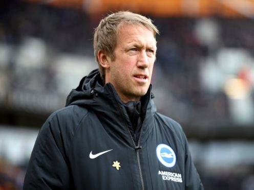 Graham Potter believes Brighton need to keep improving ahead of their clash with West Brom on Saturday (Nick Potts/PA)