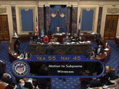 Senators are holding impeachment proceedings (AP)