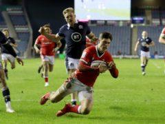 Louis Rees-Zammit scored two tries for Wales (Jane Barlow/PA)