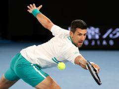 Novak Djokovic battled on at the Australian Open despite injury (Hamish Blair/AP)